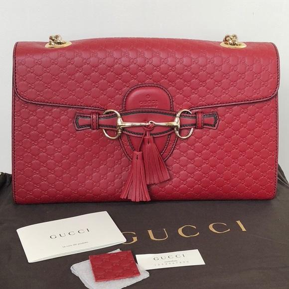 e2c64bcb0dc458 Gucci Handbags - Gucci Emily Micro GG Guccissima Shoulder Bag